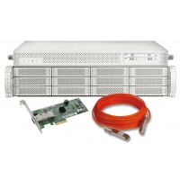 Accusys A12S2-PS, SWF16, QSFP HBA - 6pcs, 30m optical cable- 6pcs