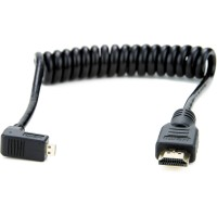 Atomos Right-Angle Micro to Full HDMI Coiled Cable 30 cm
