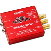 Decimator 2: 3G/HD/SD-SDI to HDMI with De-Embedded Analogue Audio
