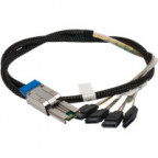 Sonnet Mini SAS (SFF-8088) to 4-port Internal SATA Cable to HD or SSD Cages